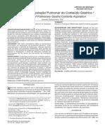 Prevenção Da Aspiração Pulmonar Do Conteúdo Gástrico [Rev Bras Anestesiol, 2004]