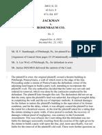 Jackman v. Rosenbaum Co., 260 U.S. 22 (1922)