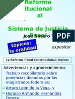 Reforma Penal Const, Topicos