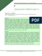 Articulo conservacion del tapir