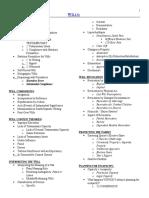 Wills Checklist