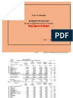 Boat Final Approved Budget FY 16 17