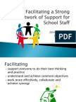 facilitating a strong network of support for school