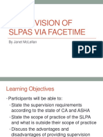 slp presentation supervision of slpa via facetime