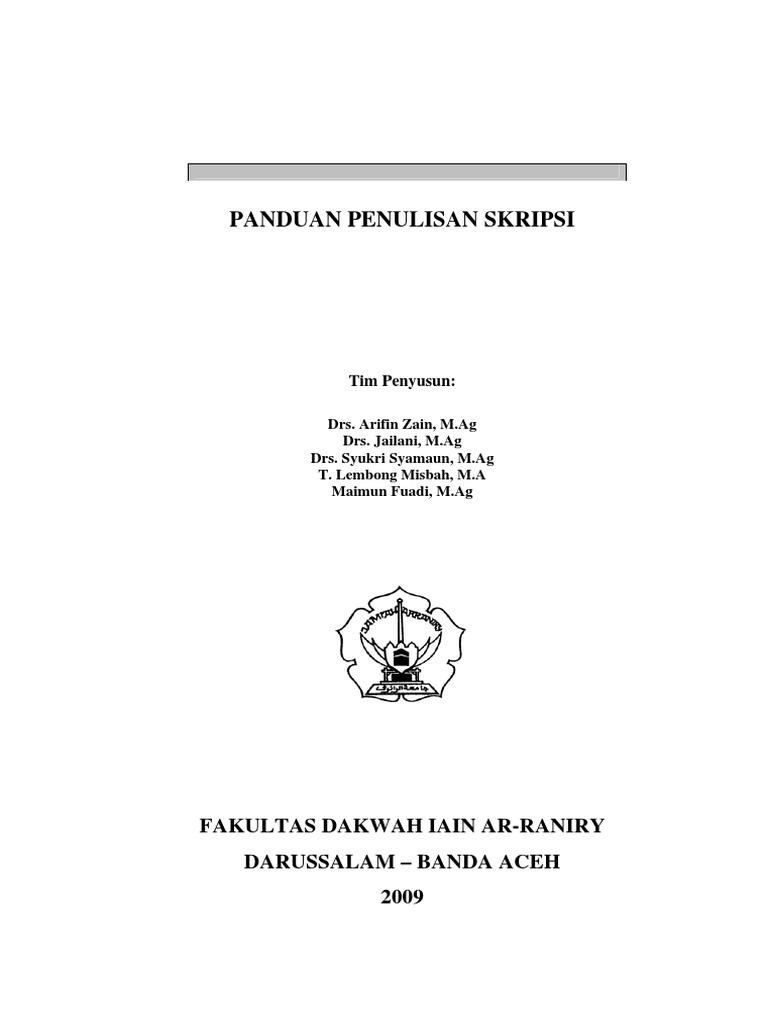 Pedoman Penulisan Skripsi Fakultas Dakwah