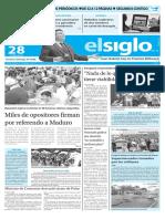 Edicion Impresa El Siglo 28-04-2016