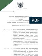 SK Mensos No 168.Huk.2015 Penetapan Penghapusan Dan Penggantian Pbi