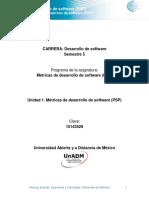Unidad 1 Metricas de Desarrollo de Software PSP