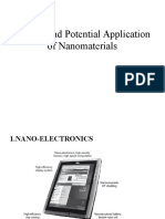 Current and Potential Application of Nanomaterials