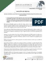 27-04- 16 SENADO APRUEBA LA LEY NACIONAL DEL SISTEMA INTEGRAL DE JUSTICIA PENAL PARA ADOLESCENTES
