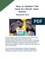The Predicament of a World- Class Runner
