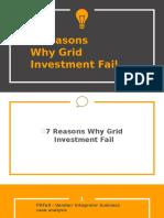 7 Reason Why Grid Investment Fail