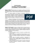 Maestria Cytalimentos - Plan de Estudios