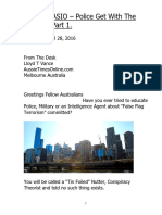 Australia ASIO – Police Get With the Program Part 1.