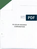 1 PH Solar Advance Corp Title Page