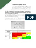 Matriz de Evaluacion Del Riesgo