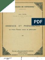 Jean Wahl La Poesie Comme Source de Philosophie