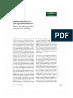 Historia y Filosofía de La Patología Latinoamerica1