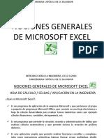 1. Microsoft Excel. Nociones Generales