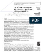 Linking Operations Strategy to the Corporate Strategy Process a Practice Perspective