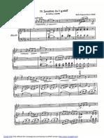 Korla Awgust Kocor (1848) – Sonatina co. 1 g-moll (Viol., Klawer)