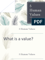 5 Human Values