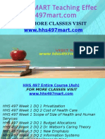 HHS 497 MART Teaching Effectively/hhs497mart.com