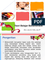 PPT Teori Belajar Behavioristik