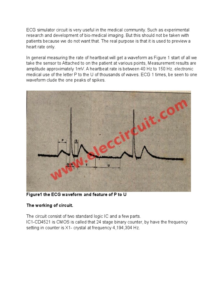 Ecg Simulator Circuit Is Very Useful In The Medical Community Logic Diagram Electrocardiography Frequency