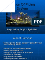 Design of Piping Systems by Tengku Syahdilan