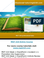 MGT 210 Professional Tutor