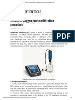 Dissolved Oxygen Probe Calibration Procedure