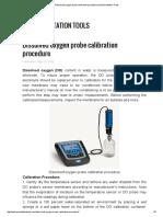 Dissolved Oxygen Probe Calibration Procedure
