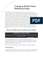 The Ever Changing Market Place of Oman Marketing Essay