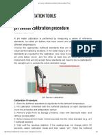 PH Sensor Calibration Procedure