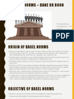 Basel Norms – Bane or Boon