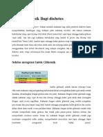 Indek Glikemik Bagi Diabetes