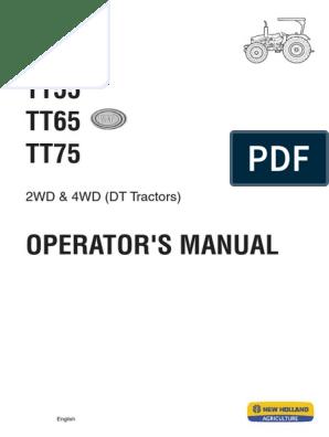 Om _tt55 Tt65 Tt75 (English) | Tractor | Clutch