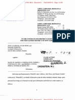 Calibuso v. Bank of America Class Action