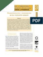 Conflicto y Seguridad Democrática en Colombia