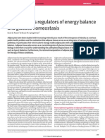 Adipocytes as regulators of energy balance and glucose homeostasis