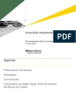 Inversión empresarial en el Perú