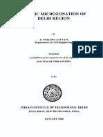 Delhi microzonation report