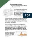 Humanities Essay - population crisis