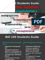 BIO 100 Apprentice tutors/snaptutorial