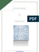 Sermon at the Burial of Syeda (sa)