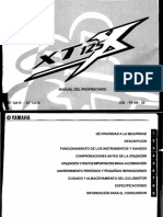 Manual de Usuario Yamaha XT 125 X R