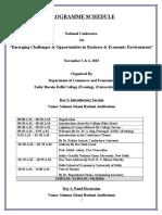 5 Programme Schedule 30th Oct 2015 Final