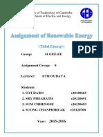 Group 8 Report Tidal Energy