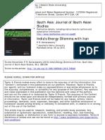 India Iran relations by Kumaraswami